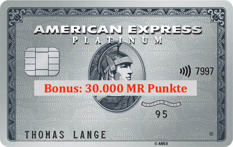 amex platinum card plat American Express Platinum Kreditkarte + 30.000 membership rewards Punkte - kostenfrei