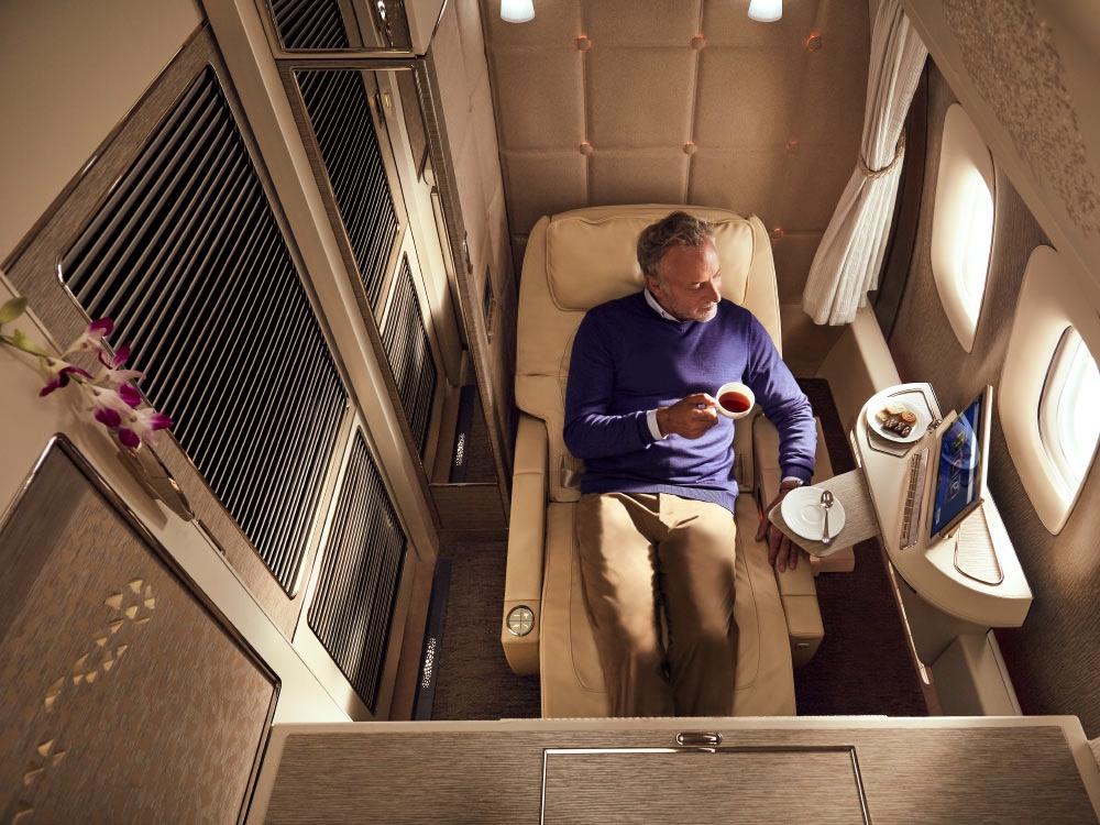 Emirates Business + First Class: Bis zu dreifache Meilen